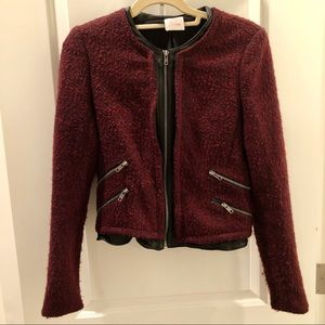 Parker Boucle and Leather Jacket